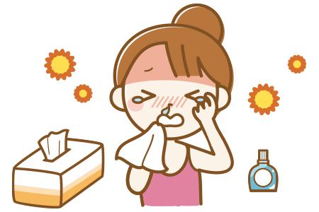 花粉症の鼻水・目のかゆみ